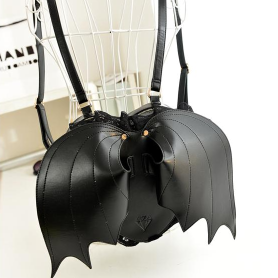 Black,Devil,Bat,Wings,Backpack,
