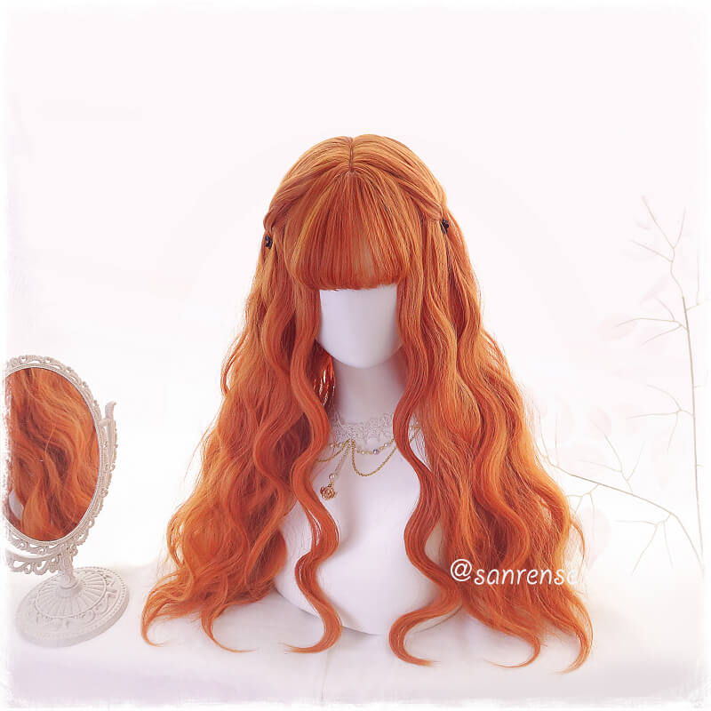 Orange Lolita Hair Wavy Cosplay Wigs SE21021