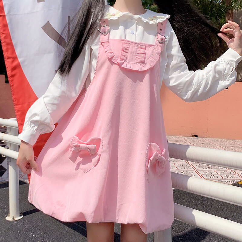 Pastel Bow Dress Bunny Shirt Set SE21058
