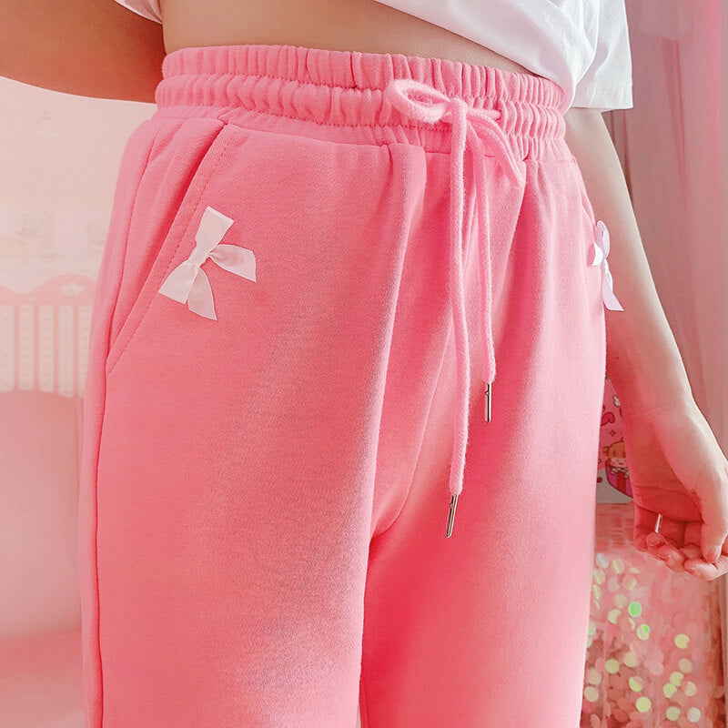 Pastel Bow Sports Trousers SE21553