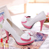 Pastel Bow Heels Shoes SE20299