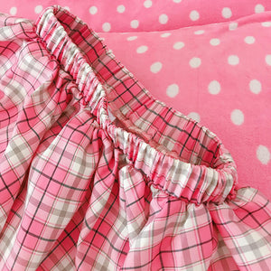 Pink Plaid Puff Skirt SE21471