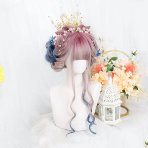 Pink Purple Blue Ombre Wig SE21411