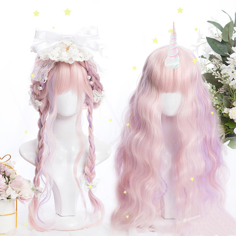 Pink Purple Mixed Wig SE21505