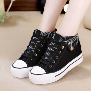 Plaid Canvas Shoes SE21338