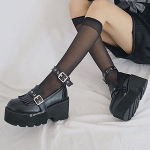 Punk Tassel Buckle Platform Shoes SE21176