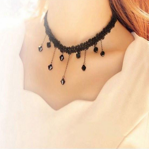 Fashion sweet Lace pendant necklace SE1355