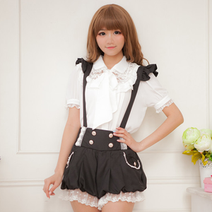 Japanese Kawaii Bow Chiffon Blouse / Straps Shorts SE11170
