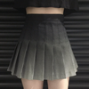 Black gradient pleated skirt SE11109