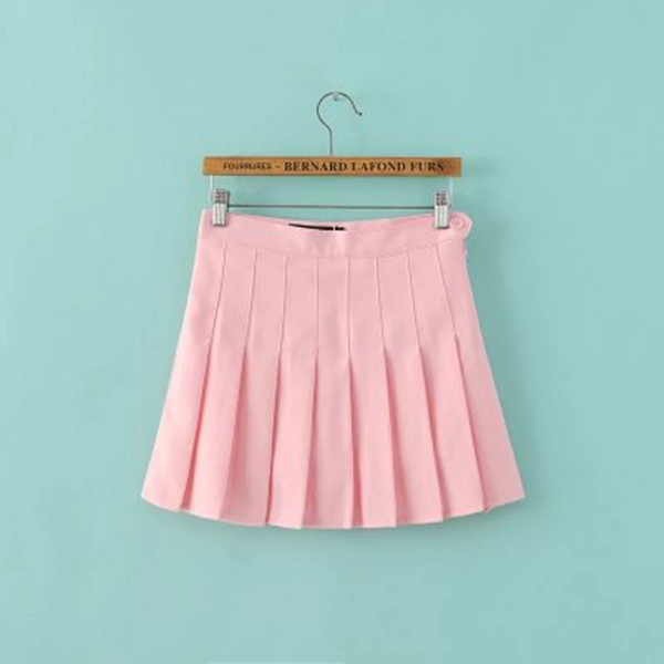 Japanese,sweet,pleated skirt,white,black,pink,blue,skorts,students skirts,