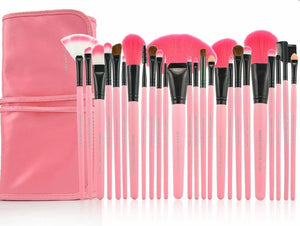 Cute makeup brush cosmetic set - pink