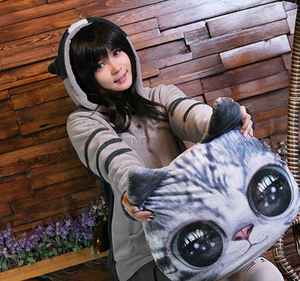 Kawaii Cats Flannel Hooded Fleece SE8857