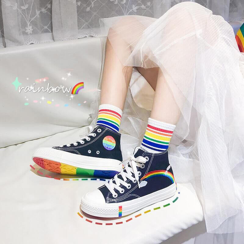 Rainbow Canvas Shoes SE20893