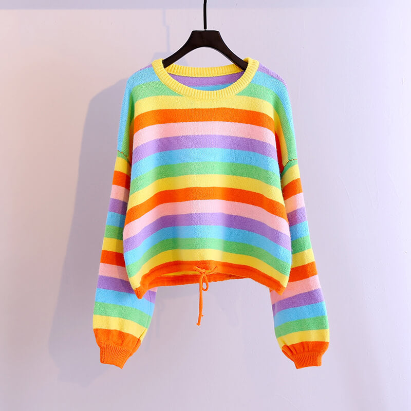 Rainbow Striped Sweater SE21257