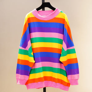 Rainbow Striped Sweatshirt SE20534