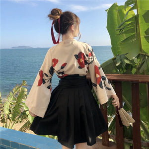 Retro Flower Skirt Suit SE21073