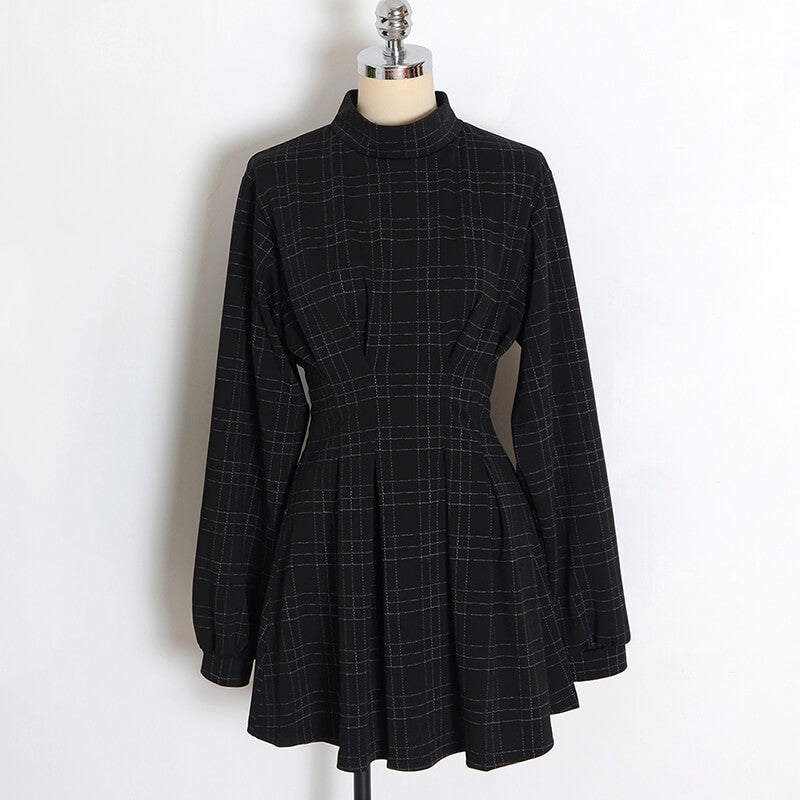 Retro Plaid Punk Gothic Dresses SE20690