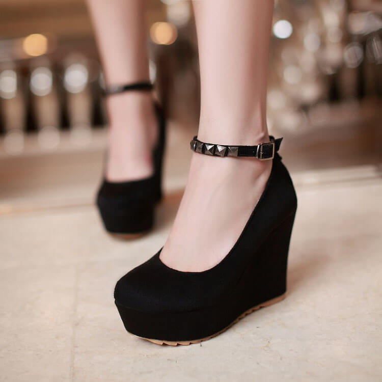 Rhomboid Platform Shoes SE21570