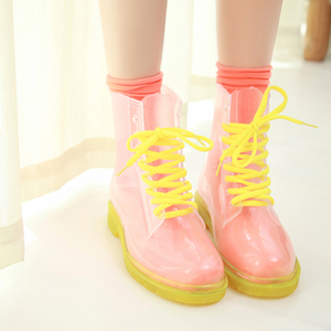 Transparent Candy Color Rain Boots SE3990