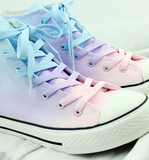Japanese harajuku galaxy gradient hand-painted canvas shoes SE7652