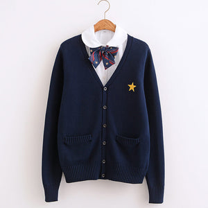 Sailor Navy Star Cardigan Sweater SE21453