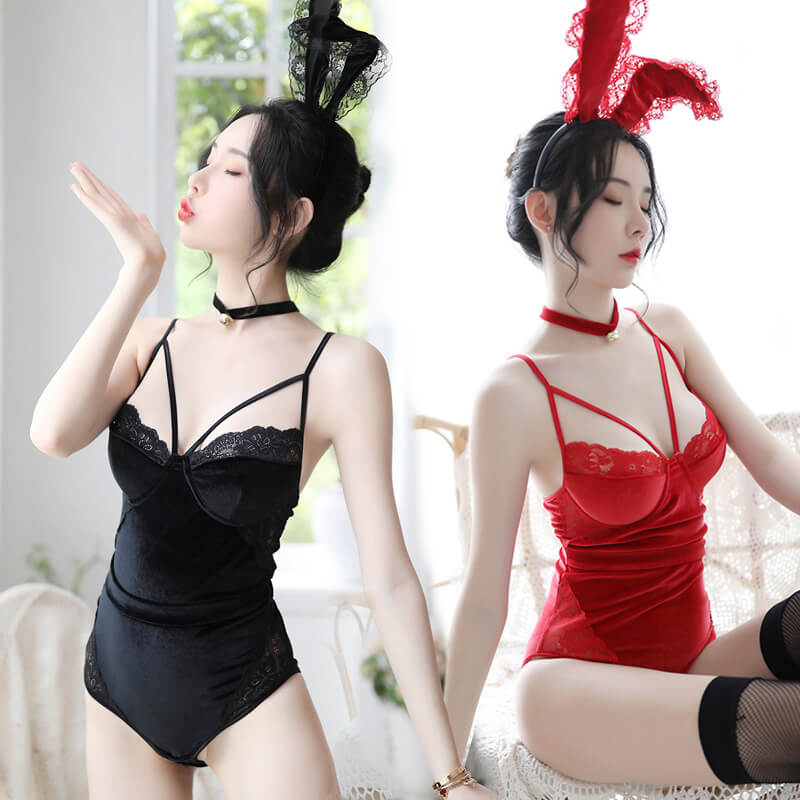 Sexy Lace Rabbit Ears Cosplay Lingeries SE20516