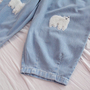 Sheep Loose Denim Trousers SE20880