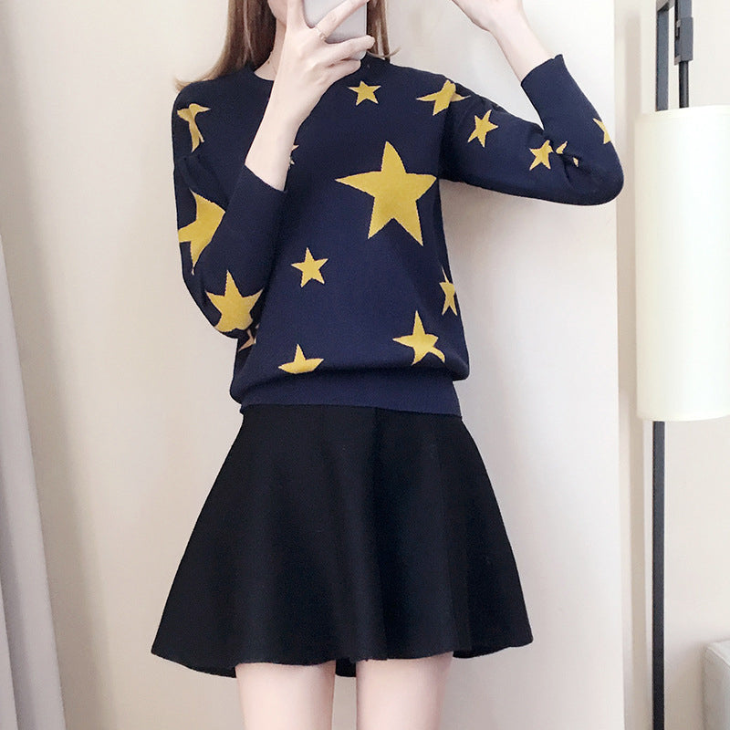 Star Sweater Skirt Set SE20167