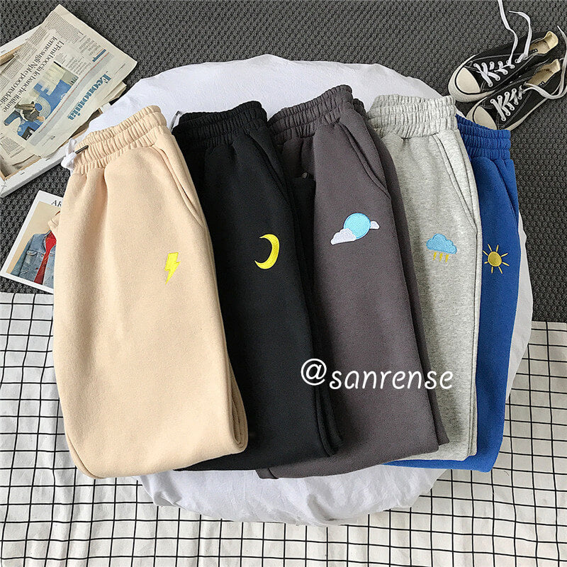 Stars Moon Sun Casual Pants SE20917