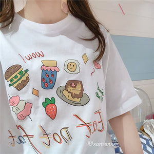 Strawberry Cake Loose T-shirt SE21049