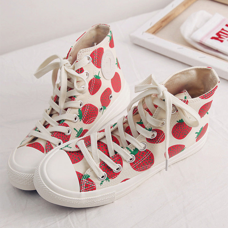 Strawberry Pineapple Canvas Shoes SE20242