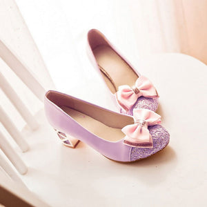 Sweet Bow High Heels Shoes SE20359