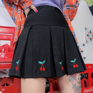 Sweet Cherry Pleated Skirt SE20356