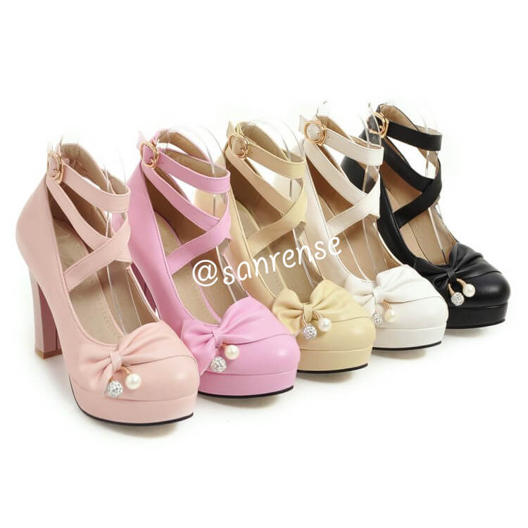 JK Lolita Bowknot Shoes SE20927