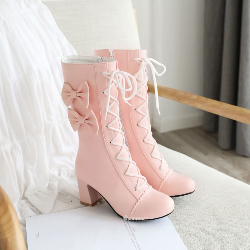 Sweet Lace Bow Boots SE21103
