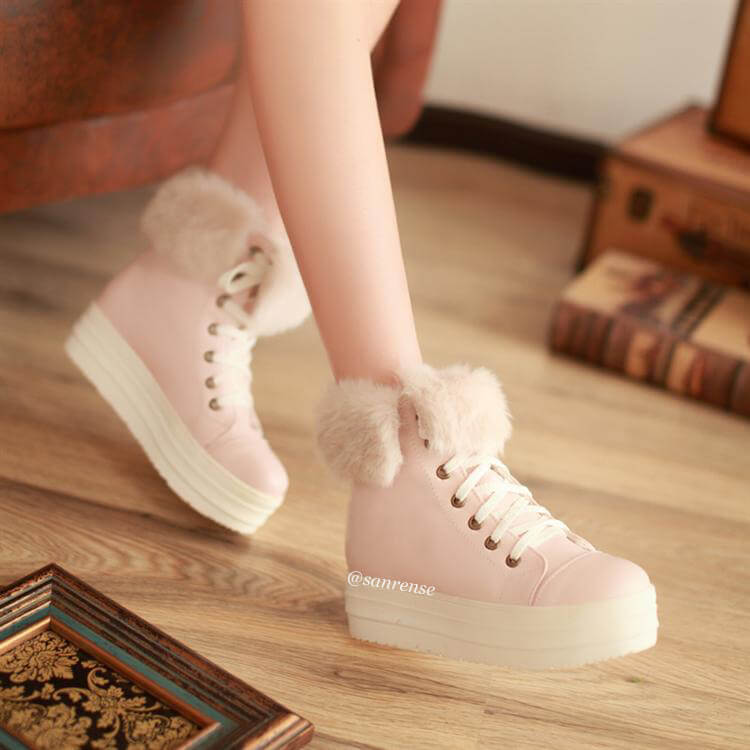 Sweet Plush Students Shoes SE21138