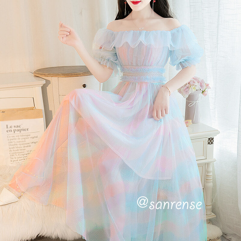 Sweet Rainbow Mesh Dress SE20941