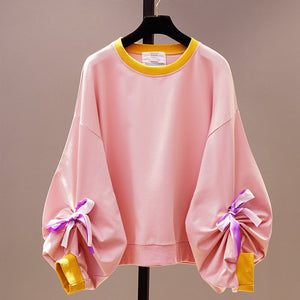 Sweet Bow Loose Sweatshirt SE20532