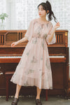 Sweet Japanese Chiffon Flower Dresses SE20325