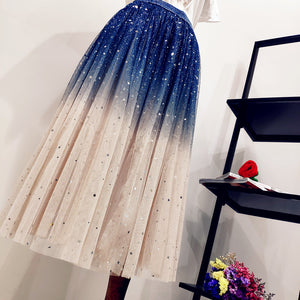 Sweet Japanese Gradient Star Skirt SE20305