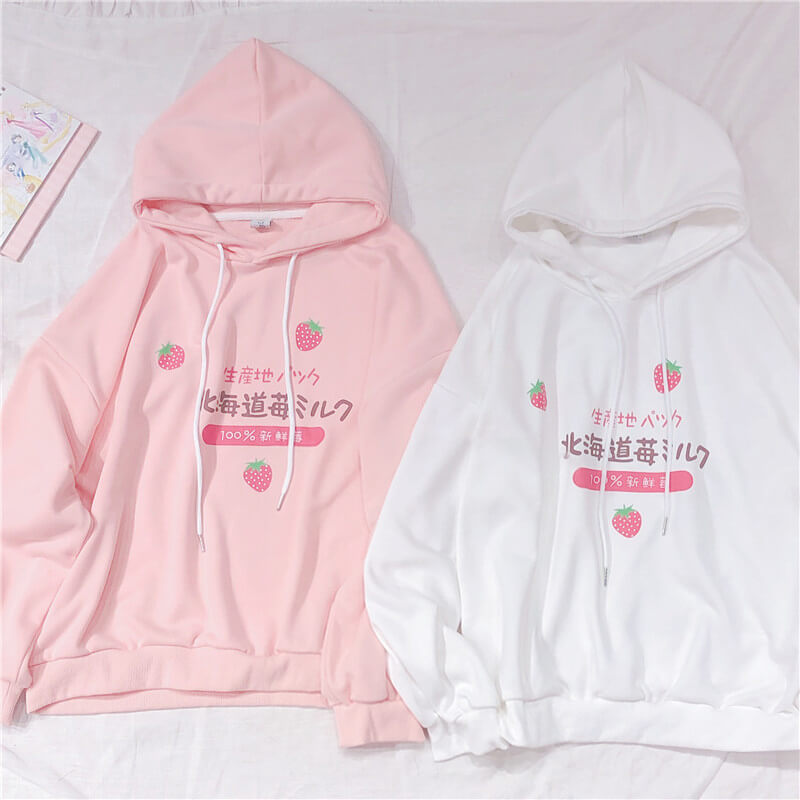 Sweet Japanese Strawberry Hoodie SE20489