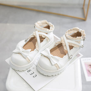 Sweet Lace Bow Shoes SE20521