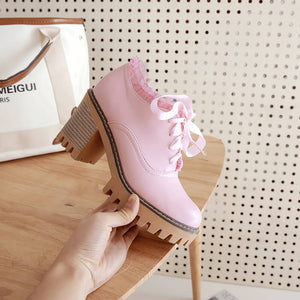 Sweet Lace student Shoes SE20405