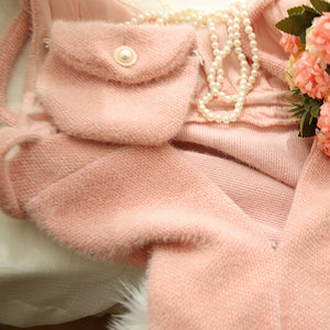 Sweet Pastel Pearl Sweater Dress Set SE20759