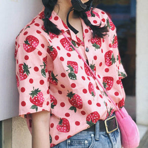 Sweet Pastel Strawberry Shirt SE20404