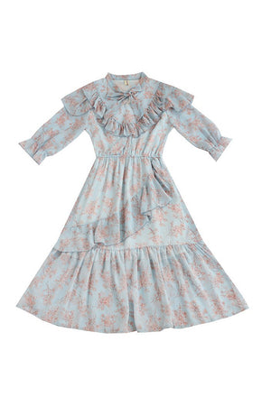 Sweet Ruffled Floral Dresses SE20329