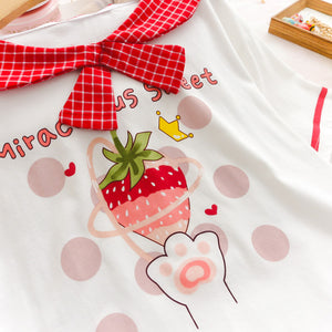 Sweet Strawberry Cat Tops SE20312