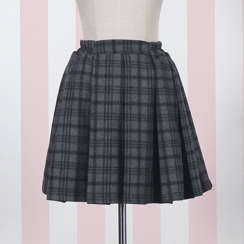 Sweet Woolen Plaid Skirt SE20662