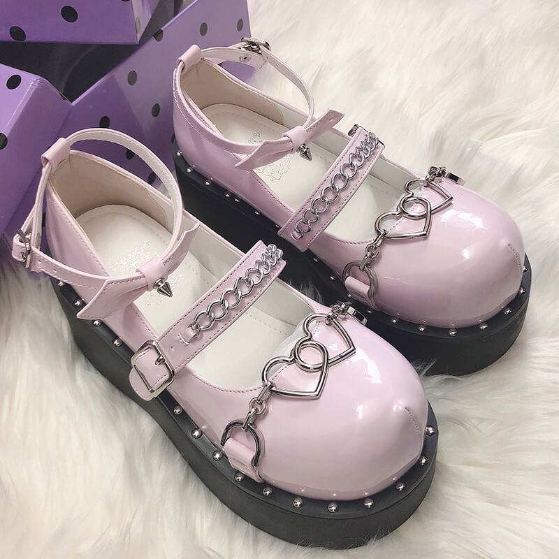 Sweetheart Punk Platform Shoes SE21546