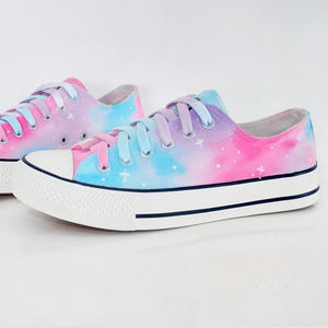 Harajuku Galaxy Gradient Hand Painted Shoes SE8798